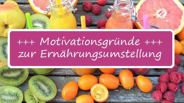 Motivationsgründe zur Ernährungsumstellung