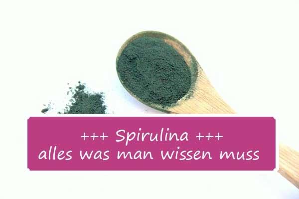 Diät zum Abnehmen mit Spirulina-Algen