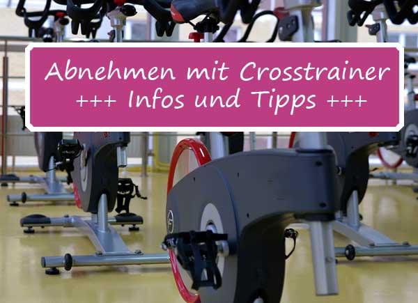 Crosstrainer - Abnehmen: Optimale Erfolge verzeichnet man, wenn man pro Woche dreimal, jeweils 20-30 Minuten trainiert.